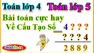 Toán lớp 4, Toán lớp 5 nâng cao: Bài toán cực hay về cấu tạo số - Luyện thi học sinh giỏi