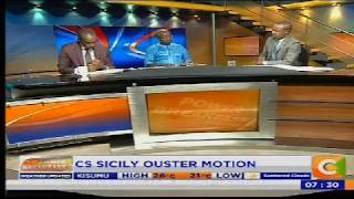 Power Breakfast: CS Sicily Ouster Motion
