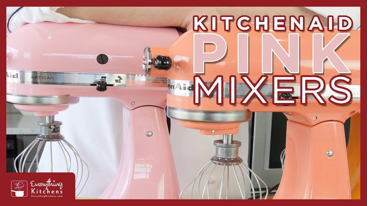 Kitchenaid Pink Mixers - Bird of Paradise, Silk, Guava Glaze, Cranberry,  Raspberry Ice