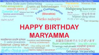 Maryamma   Languages Idiomas - Happy Birthday