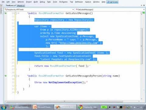 RESTful Web Services with WCF Screencast