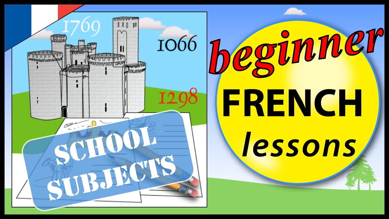 how to say subject in french
