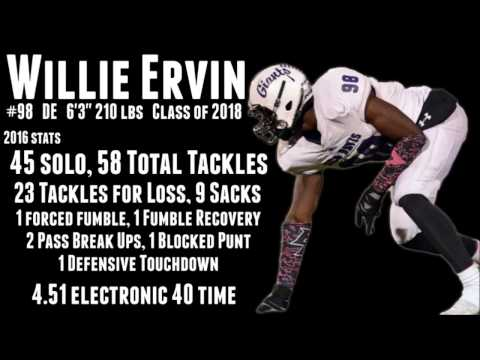 Willie Ervin Highlights, Class of 2018