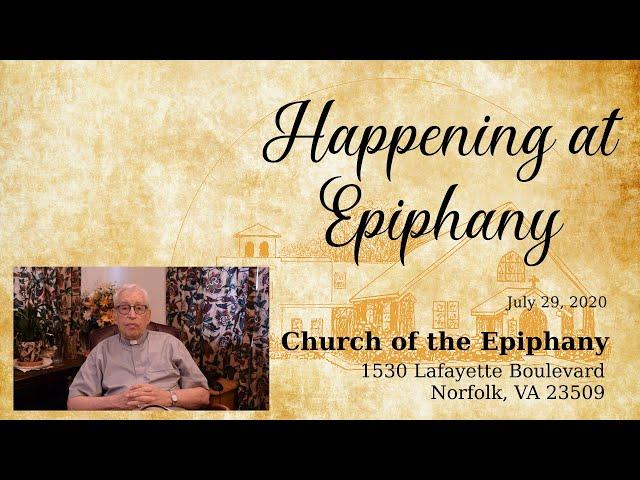 Happening at Epiphany - June 29, 2020