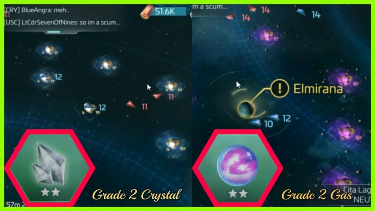 Star Trek : Best System To Find 2★ Crystal and 2★ Gas !! Star Trek™ Fleet  Command