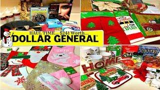 HUGE Dollar General Haul... $241 Worth Of Xmas Decorations, House Decors, Etc...