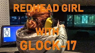 RUSSIAN REDHEAD GIRL with Glock-17