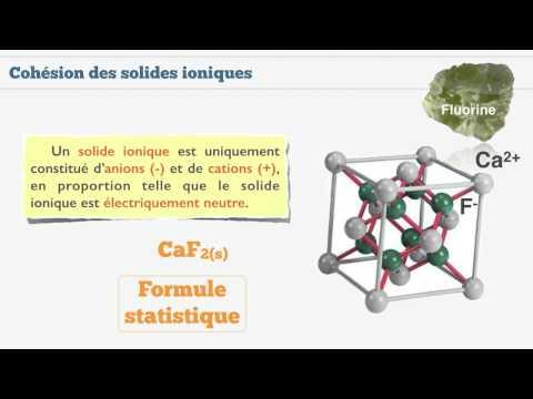 Cohésion des solides ioniques et moléculaires - 3/3