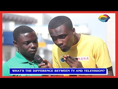 What's The Difference Between TV And TELEVISION?   Street Quiz   Funny Videos   Funny African Videos