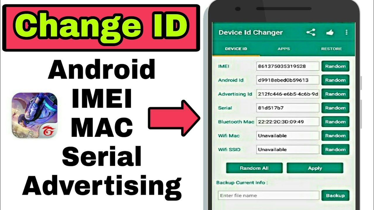 How to Change Device ID || Using Device id changer pro
