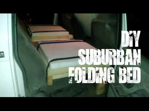 DIY folding bed for GMC/Chevy Suburban - YouTube
