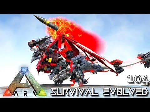 ARK: SURVIVAL EVOLVED - NEW TEK DRAGON AKAT'S RED DRAGON E104 (MOD EXTINCTION CORE)