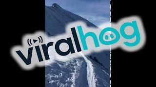 Skier Meets Mountain Goat at 10,000 Feet    ViralHog