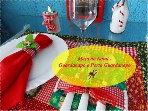 Como fazer Guardanapos e Porta Guardanapos - Mesa de Natal