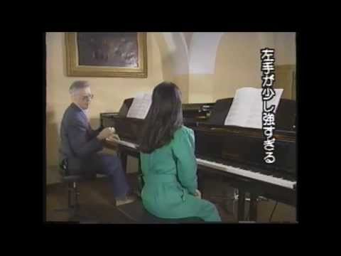 Mozart on piano ,  Walter Klien and pupil 1990