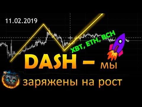 DASH- заряжен на рост. XBT, BCH, ETH - торговые решения.