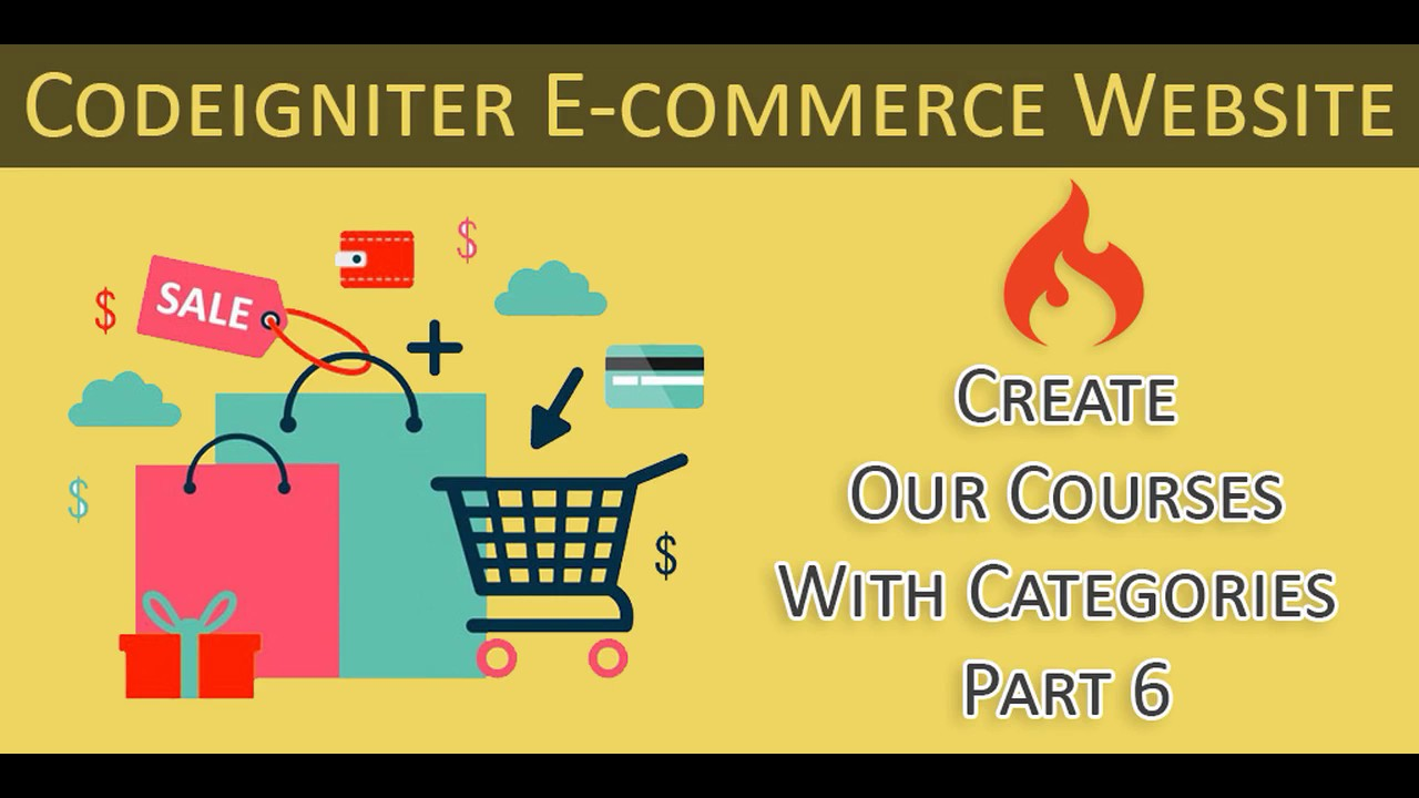 Codeigniter Ecommerce Website - Our Courses With Categories - Part 6