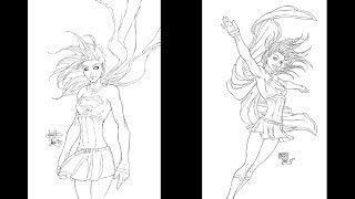 Inking Supergirl Covers