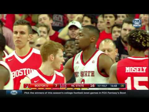 2016.12.03 Boston University Terriers at NC State Wolfpack Basketball