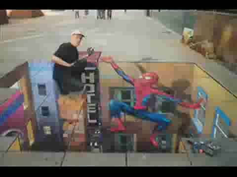 AMAZING 3D DRAWING MADE ON A LOCAL STREET MUST WATCH………………