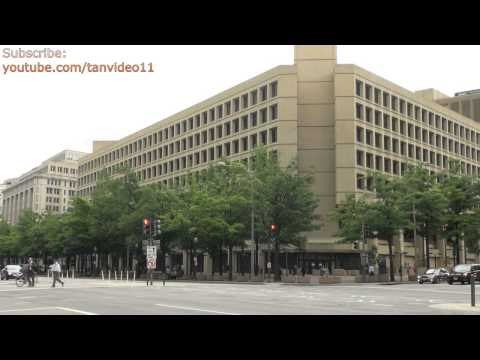 FBI Headquarters Across Busy Intersection 2, Washington DC - youtube.com/tanvideo11