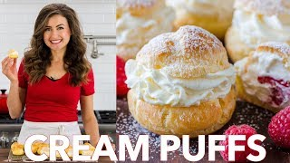 How To Make Easy Cream Puffs   Natasha's Kitchen