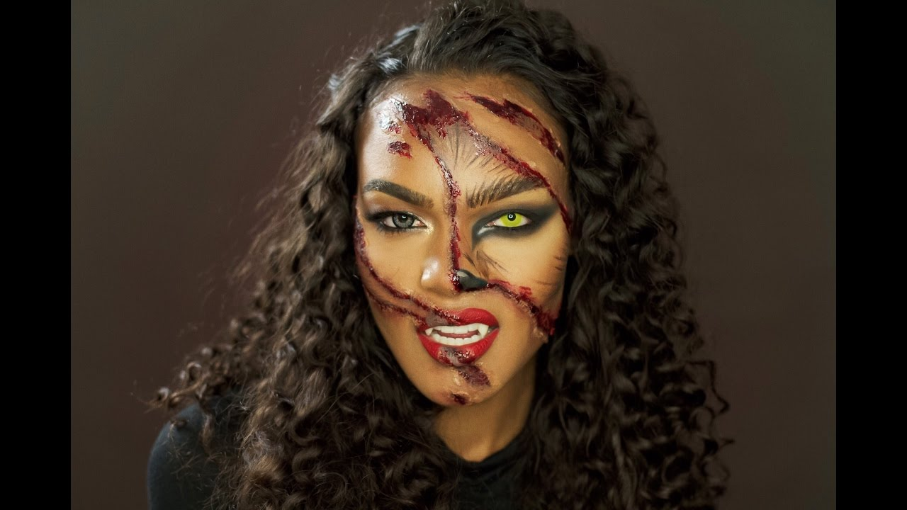 Clawed Werewolf Halloween Makeup Tutorial
