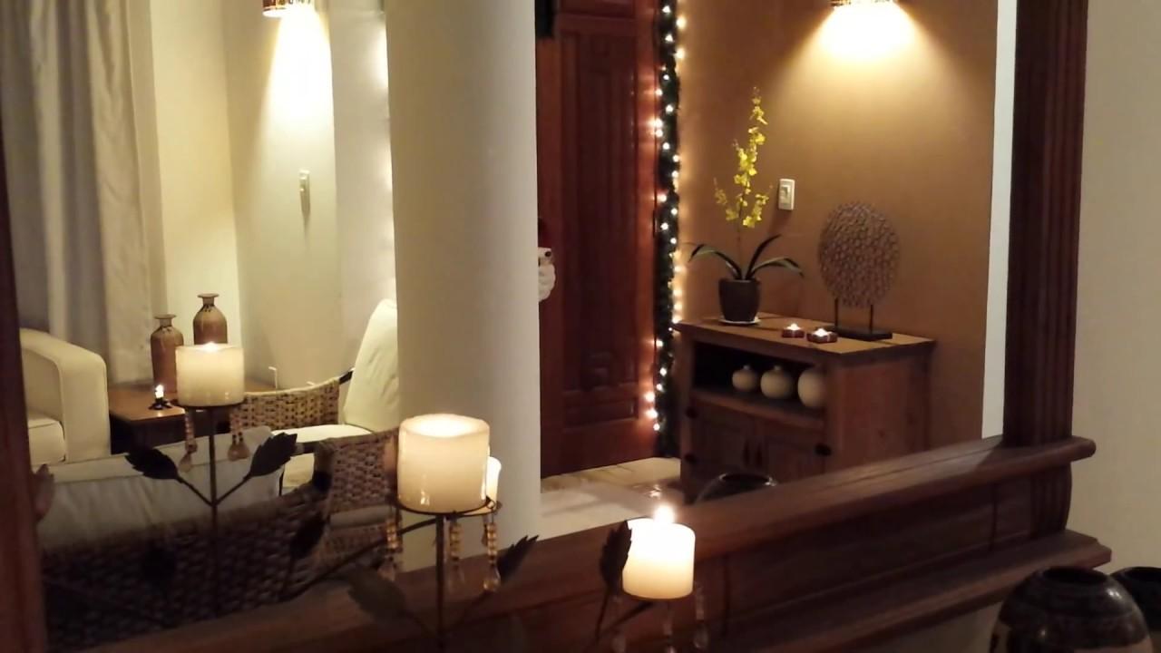 decoracao de sala natal: decoração de Natal simples e rústica – Tour pela sala – YouTube