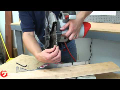 How to Replace the Blade on a Miter Saw--A Quick Fix