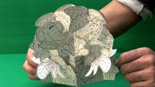 Amazing 3D Pop Up Cards - Jungle Animals (Uncompleted)