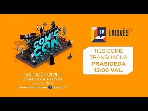 Andrius Tapinas ir LaisvÄ—s TV @ Comic Con Baltics 2017