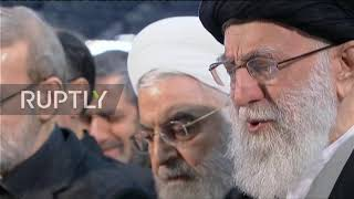 Iran: Supreme Leader Khamenei weeps while leading prayers at Soleimani's funeral