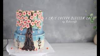 5 centimeters per second cherry blossom cake tutorial – Cách trang trí bánh hoa anh đào 5 cm/s