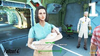 Fallout 4 - Vault 111 - Out of Time - Gameplay Walkthrough Part 1 No Commentary
