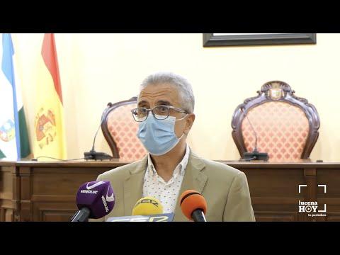 VÍDEO: El alcalde, Juan Pérez, presenta un nuevo decreto que relaja las medidas anti-covid en Lucena