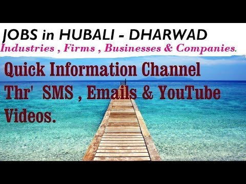 Jobs In Hubali Dharwad For Freshers Graduates Industries Companies