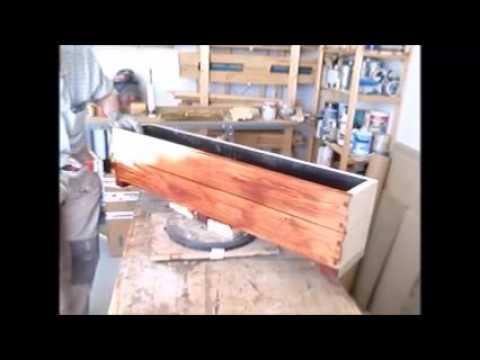 Construcción de una jardinera de madera - YouTube