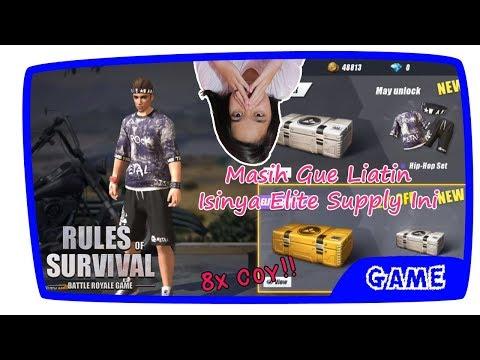 Buka 8x Elite Supply Isinya Sampah⁉️ - Rules Of Survival Indonesia (Android Version)