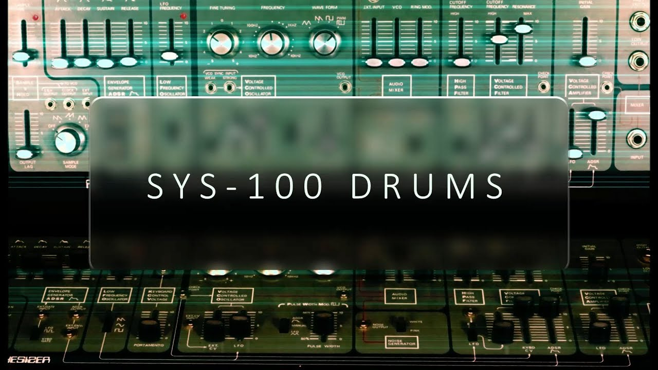 SYS-100 Drums | Analogue Drum Samples | System-100