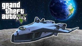 GTA 5 - FLYING TO THE MOON IN A SPACE SHUTTLE! (GTA 5 Mods)