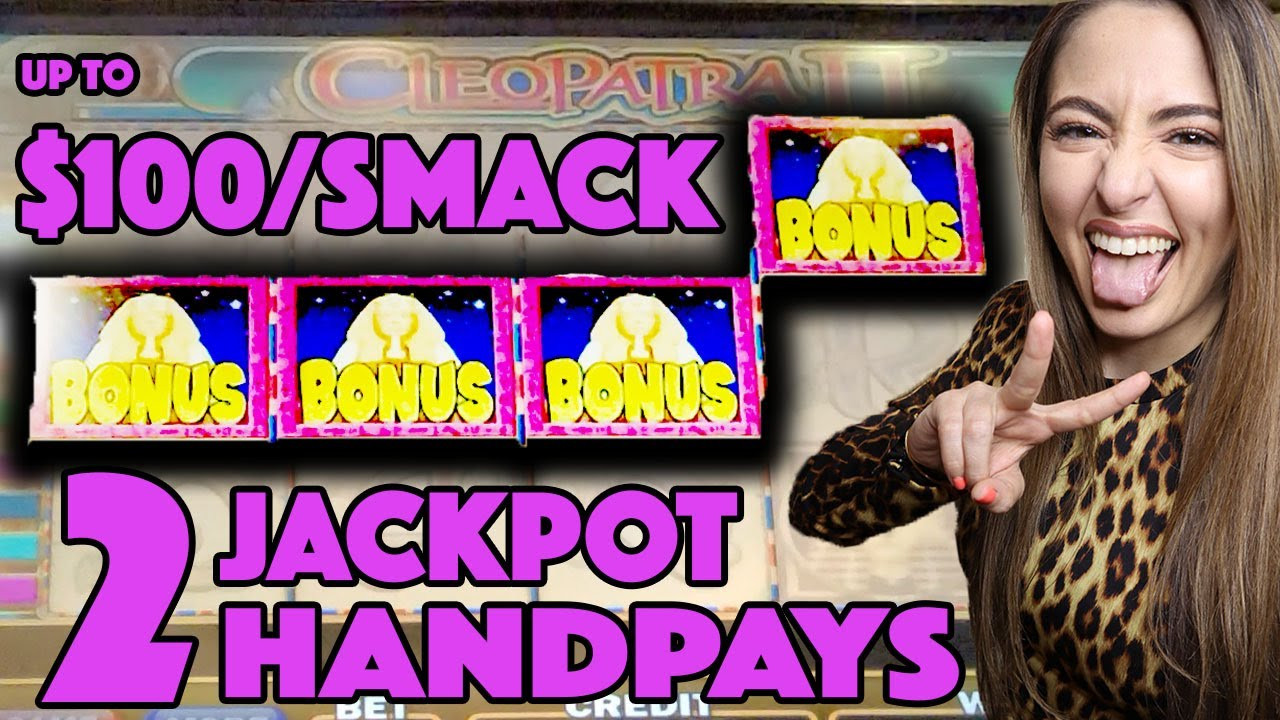 TWO AWESOME Handpay Jackpots on Cleopatra 2 in Las Vegas! Up to $100/Spin!