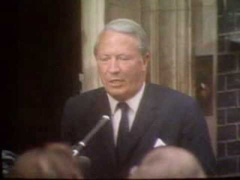 Conservative Leader Edward Heath campaigning and winning, General Election 1970