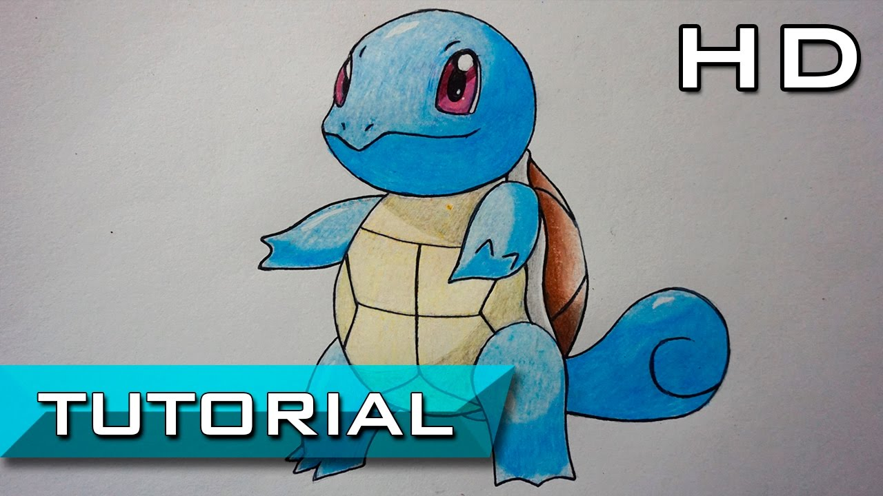 How To Draw Squirtle From Pokemon Step By Step With Colored Pencils
