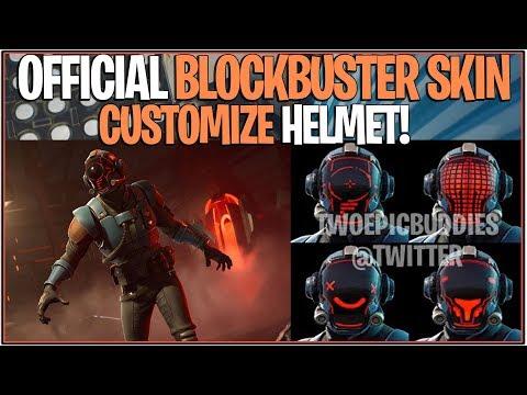 *NEW* Fortnite: LEAKED OFFICIAL BLOCKBUSTER SKIN + Fully Customizable Helmet!