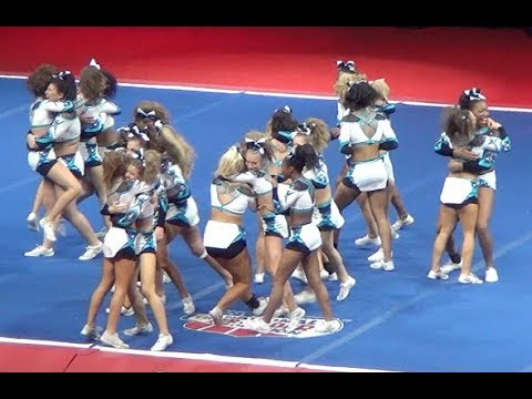 Most Iconic Cheer Routine EVER! 1-3-5-7 MUSIC STOPS! COUGARS ~ NCA CHAMPIONS!