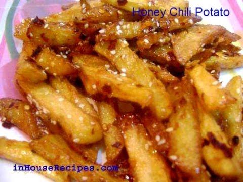 Honey chili potato recipe french fries with honey video honey chili potato recipe french fries with honey video inhouserecipes forumfinder Images