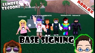 Roblox - Lumber Tycoon 2 - LT2 Discord Base Signing! :D WOOT WOOT!