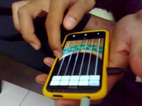 Kordi playing guitar with HTC one X ( Qody Mentor )