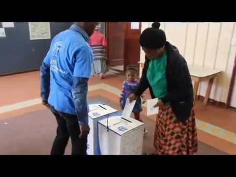 South African Election - Imizamo Yethu Township Polling Station - Mandela Park - Hout Bay - Ed Rice
