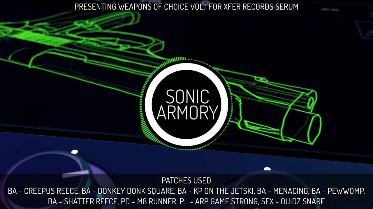 Sonic Armory Weapons of Choice Vol 1 Megapack For XFER